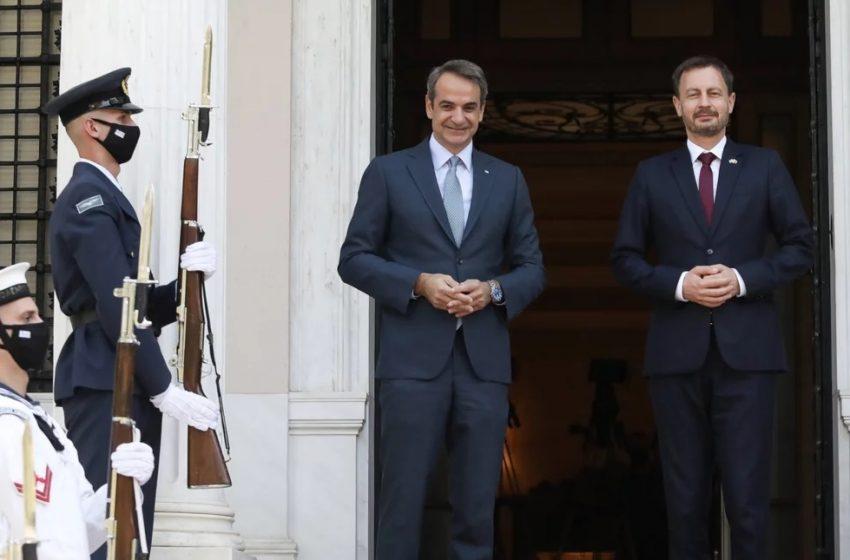Live  Οι κοινές δηλώσεις Μητσοτάκη με τον Πρωθυπουργό της Σλοβακίας