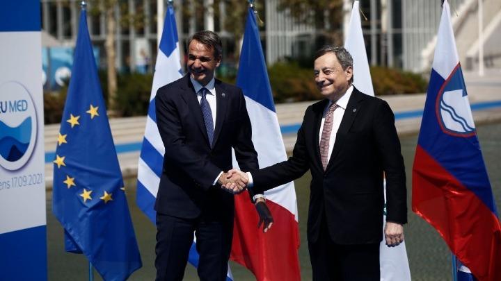 Οι προκλήσεις στη Μεσόγειο και η κλιματική κρίση στο επίκεντρο Μητσοτάκη-Ντράγκι