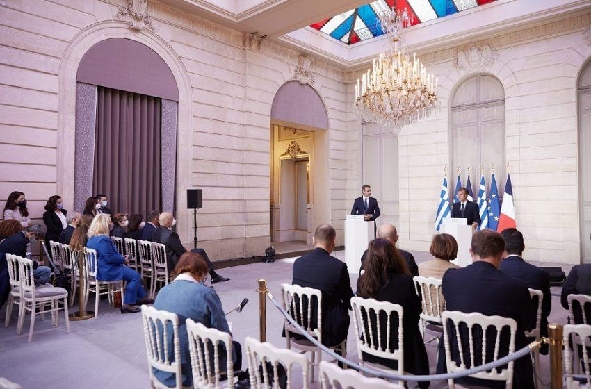 Μητσοτάκης: Ιστορική μέρα για Ελλάδα – Γαλλία/Μακρόν: Προωθούμε την ασφάλεια και τη σταθερότητα στις περιοχές μας, μήνυμα στην Άγκυρα