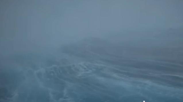 Απίστευτες εικόνες μέσα από τυφώνα – Κύματα 15 μέτρων και άνεμοι 193 χλμ. (vid)