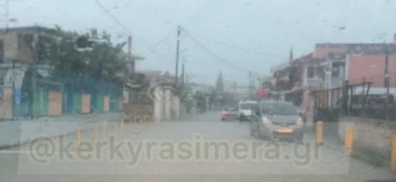 Προβλήματα λόγω βροχοπτώσεων στην Κέρκυρα – Ισχυροί άνεμοι στους Παξούς (vid)