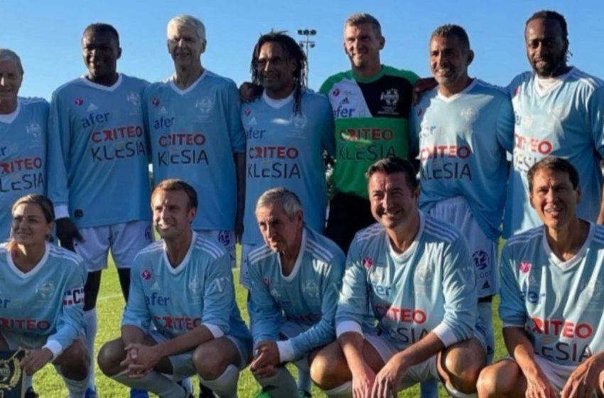 Ο Εμανουέλ Μακρόν έπαιξε ποδόσφαιρο μαζί με τον Κριστιάν Καρεμπέ και σκόραρε