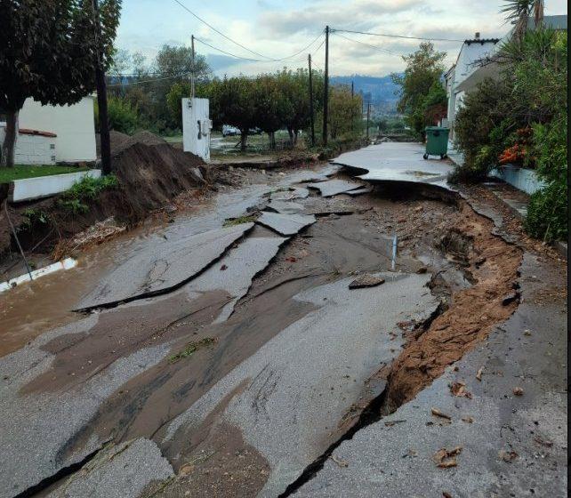Εύβοια: Μεγάλες καταστροφές, πλημμυρισμένα σπίτια και κομμένοι δρόμοι