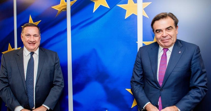 Συνάντηση του Σπύρου Καπράλου με τον Αντιπρόεδρο της Ευρωπαϊκής Ενωσης Μαργαρίτη Σχοινά
