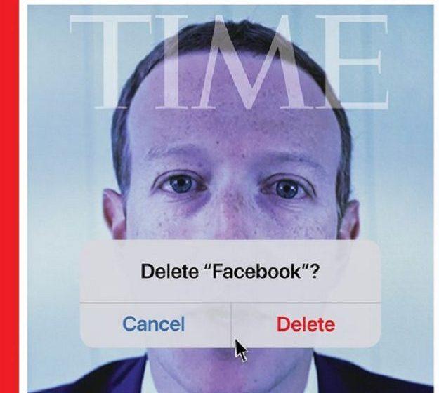 """ΤΙΜΕ – """"Διαγράφει"""" τον Μαρκ Ζάκερμπεργκ και το Facebook στο εξώφυλλό του"""