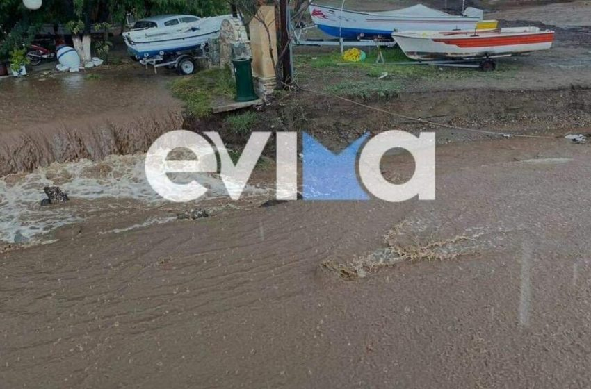 """Βόρεια Εύβοια ολοκληρώθηκε η καταστροφή: """"Δεν έμεινε τίποτα όρθιο"""" – Μετά τις πυρκαγιές, πλημμύρες από την κακοκαιρία """"Αθηνά"""" (vid)"""