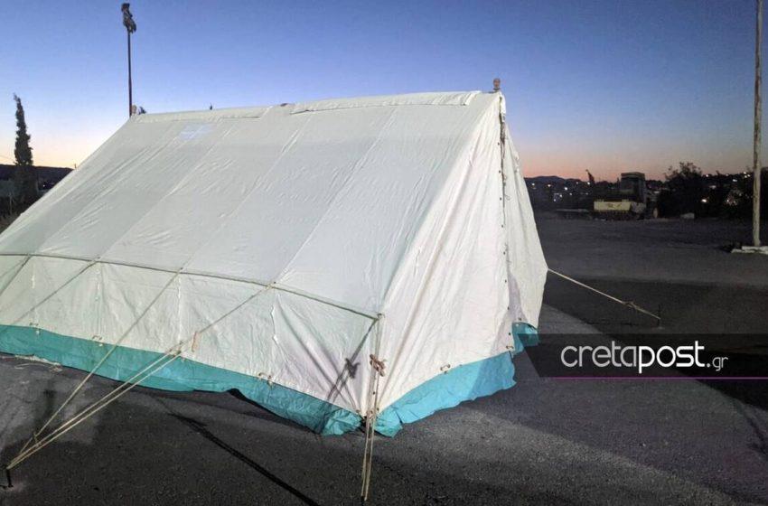 Κρήτη: Κρούσματα κοροναϊού σε σεισμόπληκτους που έμεναν σε σκηνή